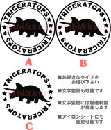 サイズが選べる&文字変更OK★オリジナルステンシル(トイケラトプス)