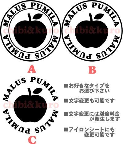 画像1: サイズが選べる&文字変更OK★オリジナルステンシル(りんごB)