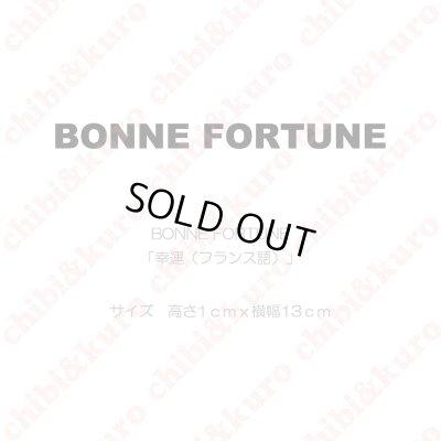 画像1: 【50%OFF】BONNE FORTUNE・幸運(フランス語)(1) 高さ1cmx13cm