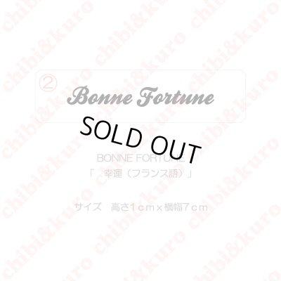 画像1: 【50%OFF】BONNE FORTUNE・幸運(フランス語)(4)  高さ1cmx7cm