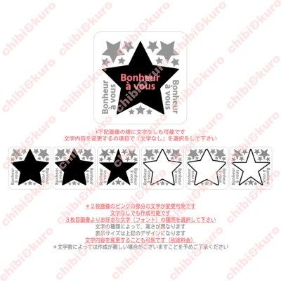 画像2: 【文字内容変更可能】星&文字ロゴアイロンシート